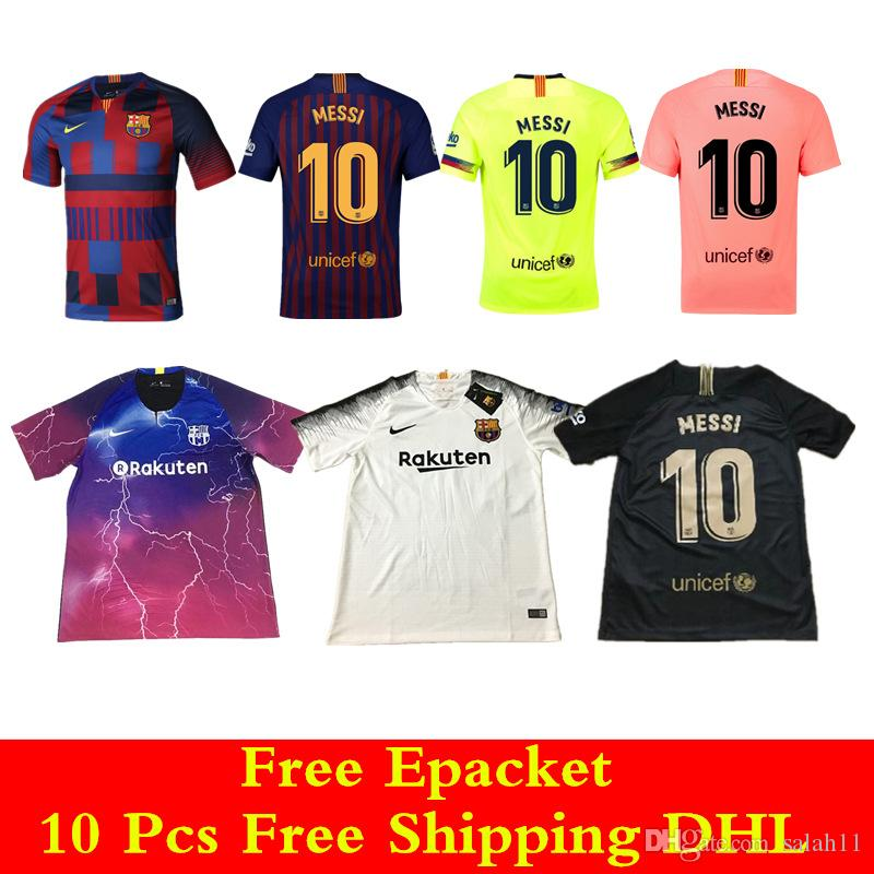 8879f635814 AAA+Top Thailand Quality 18 19 EA Sports Jersey Barcelona MESSI ...