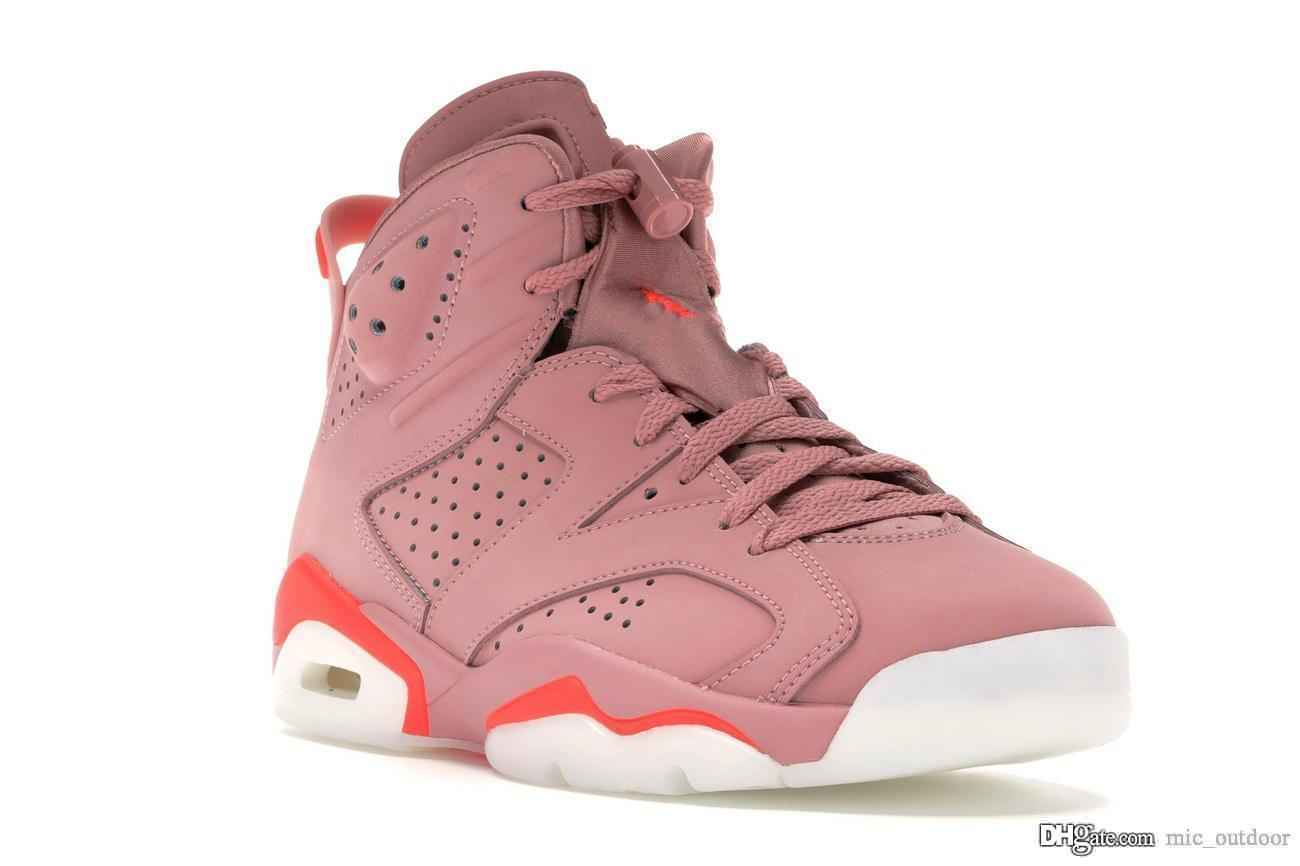 2019 New Originals Aleali May x Air 6 High OG CI0550-600 Rust Pink 6S VI  Women WMNs Basketball Shoes Authentic Sports Sneakers With Box