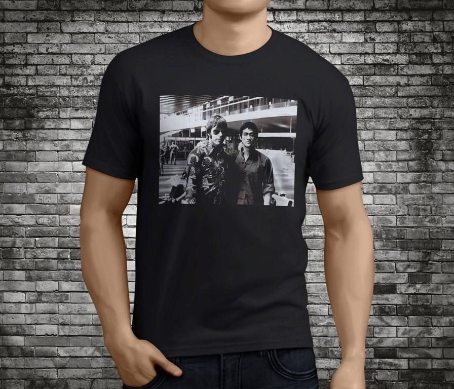 New Popular Chuck Norris amp Rare Photos Black T-Shirt Size S-3XL Newest Top Tees,Fashion Style Men Tee