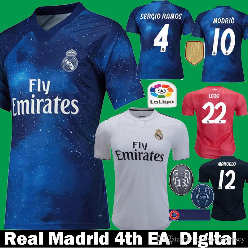 b7b49e7aa 18 19 Top Quality Real Madrid Soccerjersey Football Shirt Camiseta ...