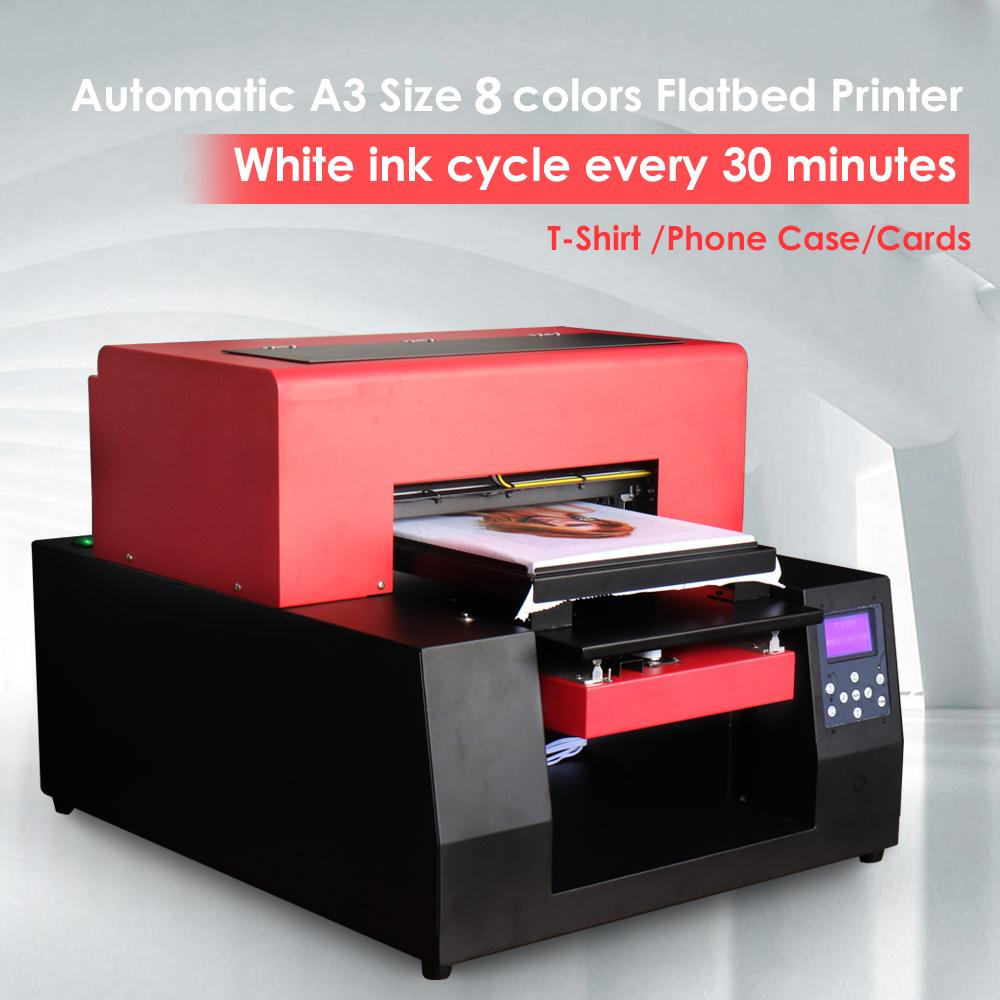 Automatic T Shirt Printer A3 Size Flatbed Printer For Digital Custom