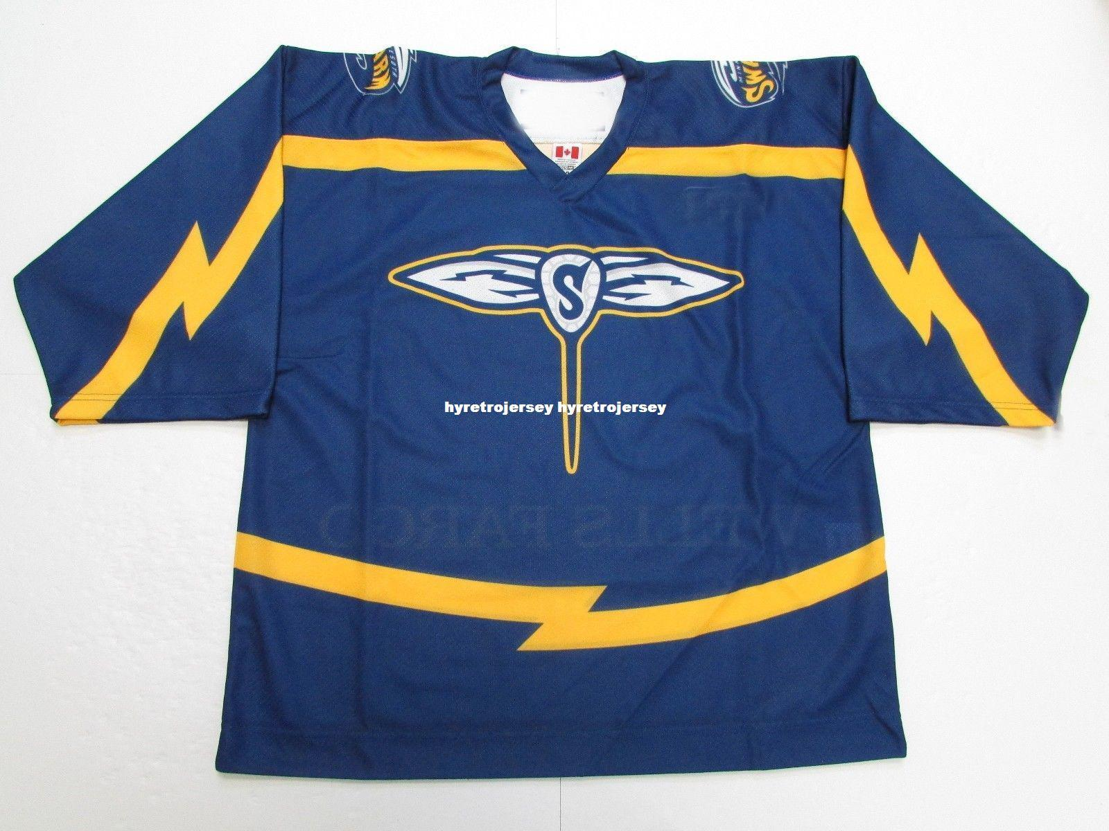 8b6ce7d9996 2019 Cheap Custom MINNESOTA SWARM NLL LACROSSE BLUE PRO JERSEY Stitch Add  Any Number Any Name Mens Hockey Jersey GOALIE CUT 5XL From Hyretrojersey