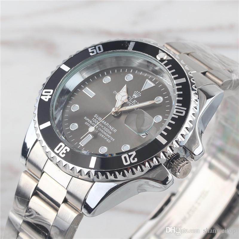 05eada552806 Compre Relógio Masculino Mesa De Regalo De Navidad Nuevo Lujo Para Hombre De  Lujo Reloj De Acero Inoxidable Superior Ejército Militar Casual Relojes De  ...