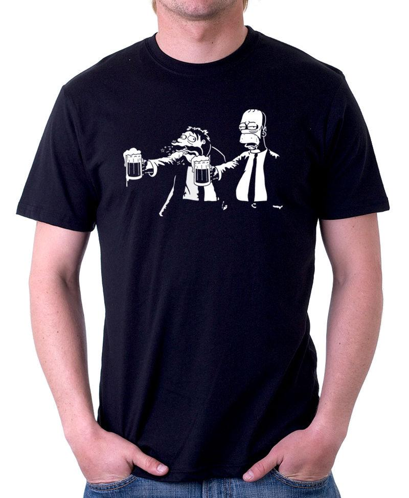 PULP Fiction Homer Parody Funny Tarentino Film Black Cotton T Shirt 09872  Funny Unisex Casual A Shirt A Day T Shirt From Pickapair 5b0468939877