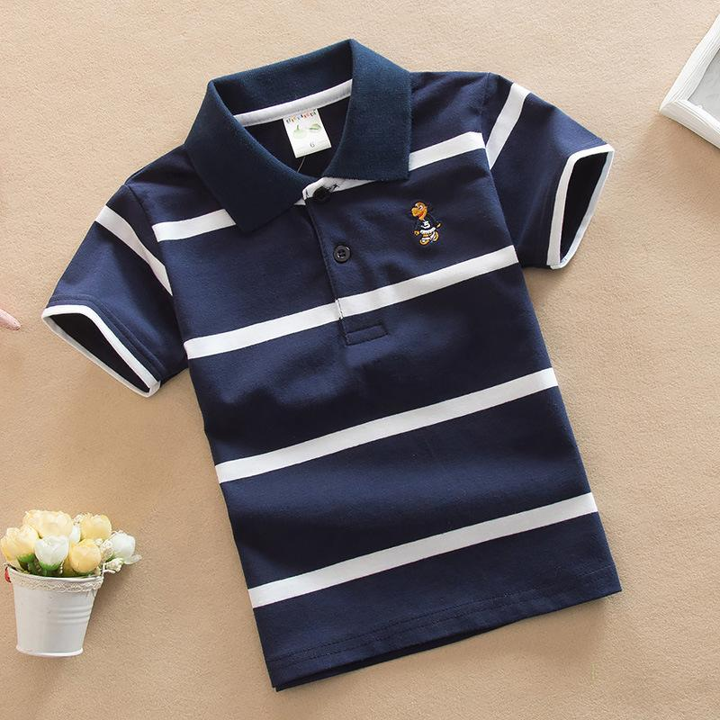 e1724b6400 2019 Good Quality Boys Polo Shirt Summer 2019 New Clothes Children Clothing Kids  Cotton Polo Shirts High Quality Stripe Boys Sport Shirts From Xiaocao04, ...