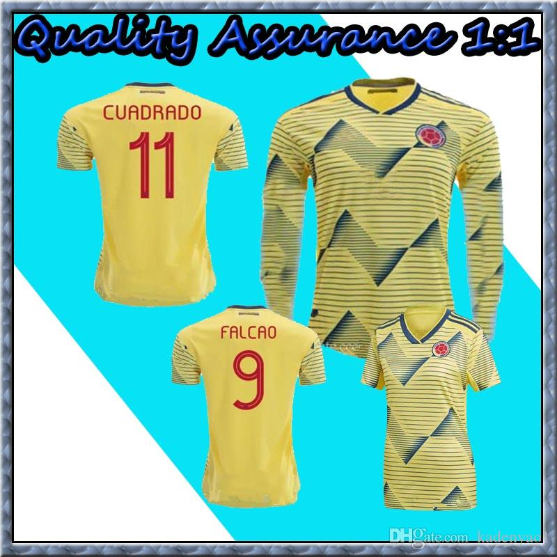 quality design 21112 31fe3 2019 Colombia Soccer Jersey Falcao James Rodriguez Long Sleeve Football  SHIRTS Sanchez Copa America Colombia Women Kids Camiseta de Futbol