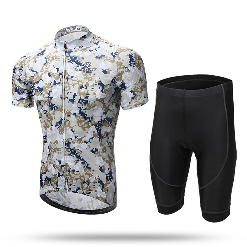 f45affe1b XINTOWN Jungle Camouflage Print Men s Cycling Sets Bike Bicycle ...