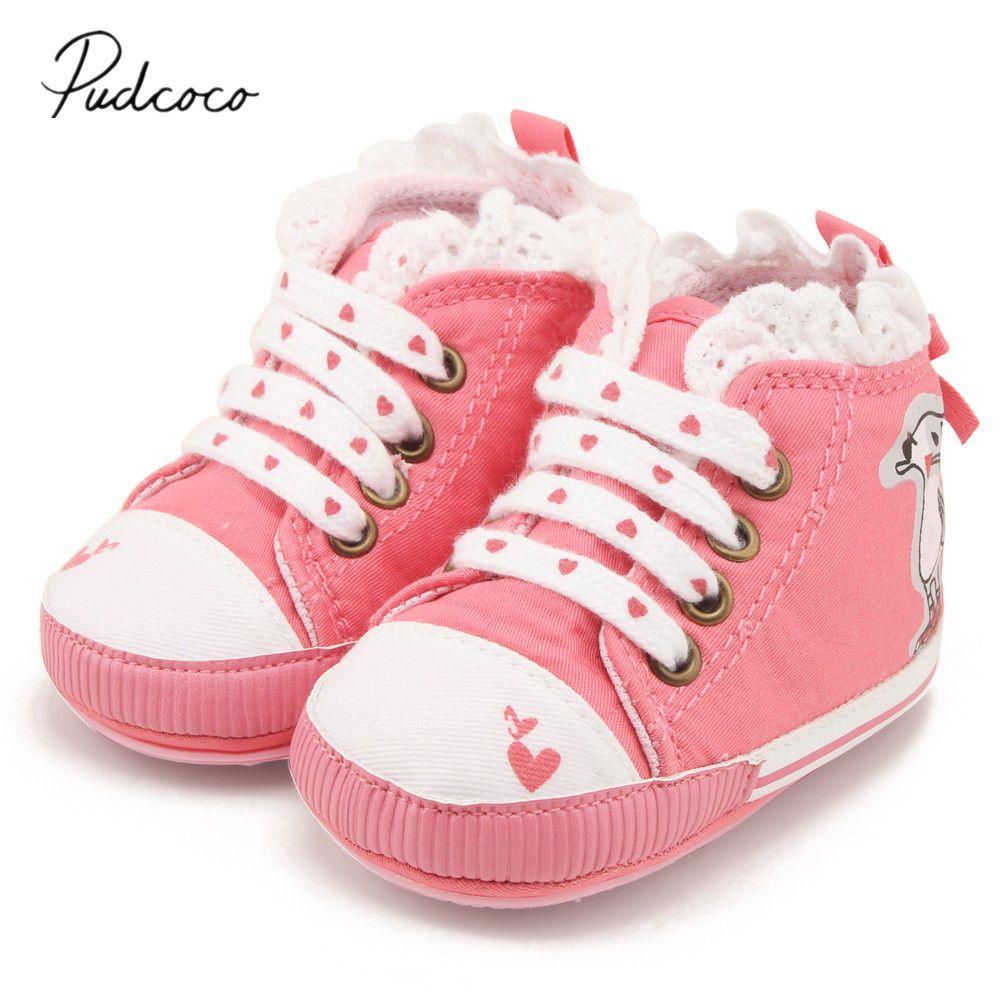Prewalker Estrenar A Corazones Conejo Recién Impresión Bebé Zapatos Nacido Niña Cordones De Causal Zapatillas 2019 Con Niños J3uKcTlF1