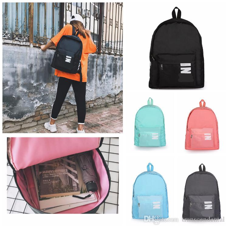 The Pink Black Backpack Casual Backpacks Teenager Student Schoolbag Travel Bags 5 Colors 43X32X15cm In Stock Fast Shipping