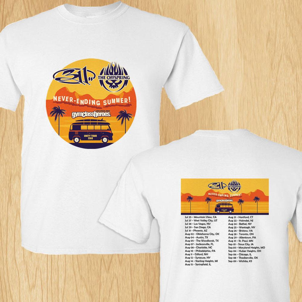 311 The Offsprings Never Ending Summer Tour Concert 2018 White Tee