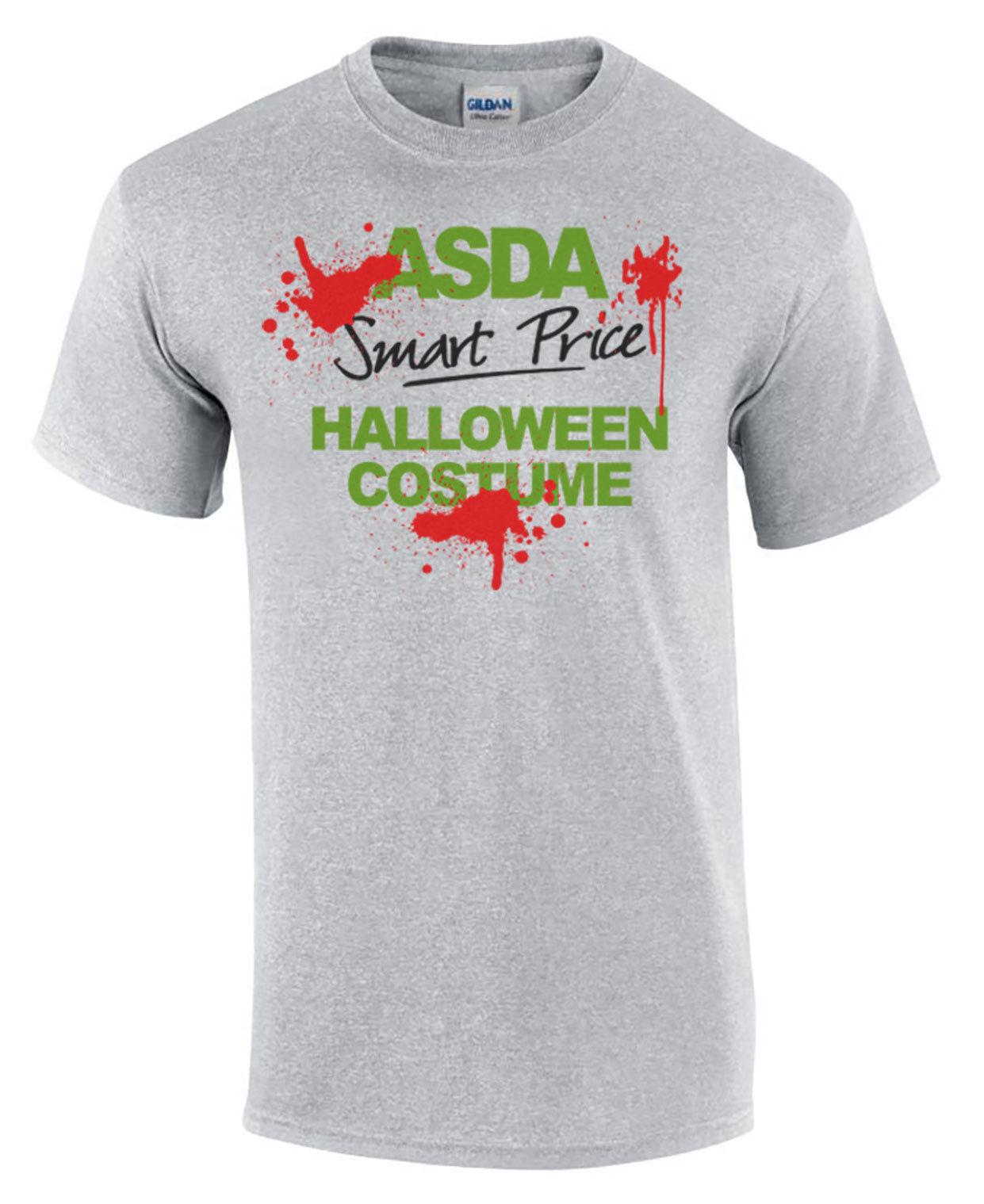 ad70de47 Funny Halloween T-Shirt ASDA SMART PRICE Costume Blood Splat Men's Comedy  ShirtFunny free shipping Unisex Casual Tshirt