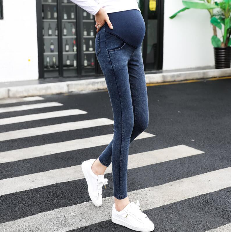 b26bba45c54265 2019 2019Trousers Pregnant Women Clothes Elastic Waist Maternity Pants  Abdominal Pregnancy Jeans Stretch Leggings Clothing Maternidad From  Newestable, ...
