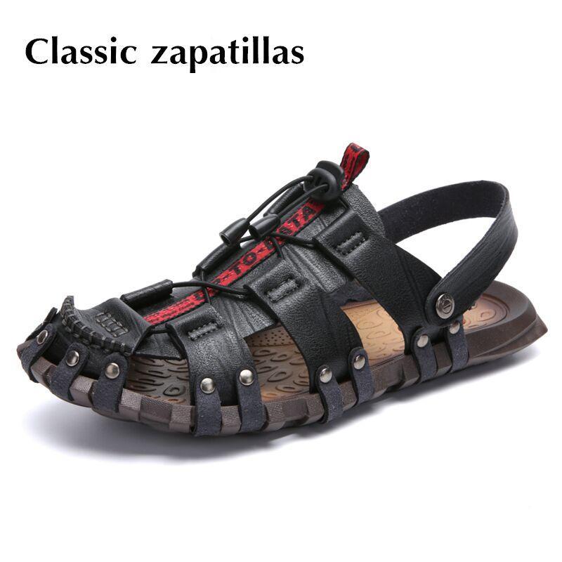 Blanda De Compre Suela Casuales Sandalias Hombre Cuero Zapatos 45ARjL