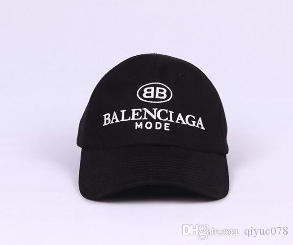 7233513b7cff9 2019 Ball Caps Men Women Balenciaga West Hip Hop Embroidery Baseball ...