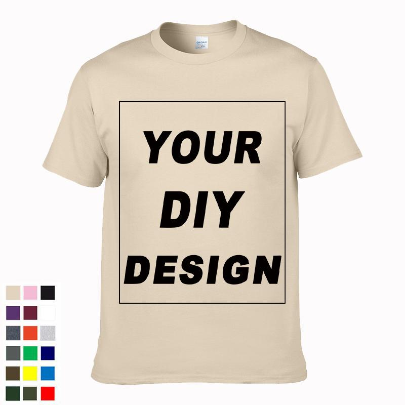 1824492a3 2019 Customized Men's T Shirt Print Your Own Design DIY High Quality Cotton  T-Shirt For Men Plus Size no glue print XS-3XL #04