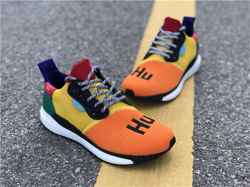 best service a848b 405e9 2018 Newest Coming Pharrell Williams Solar Trail Black White Human Race  BB8042 Men Women Running Shoes Authentic Sneakers