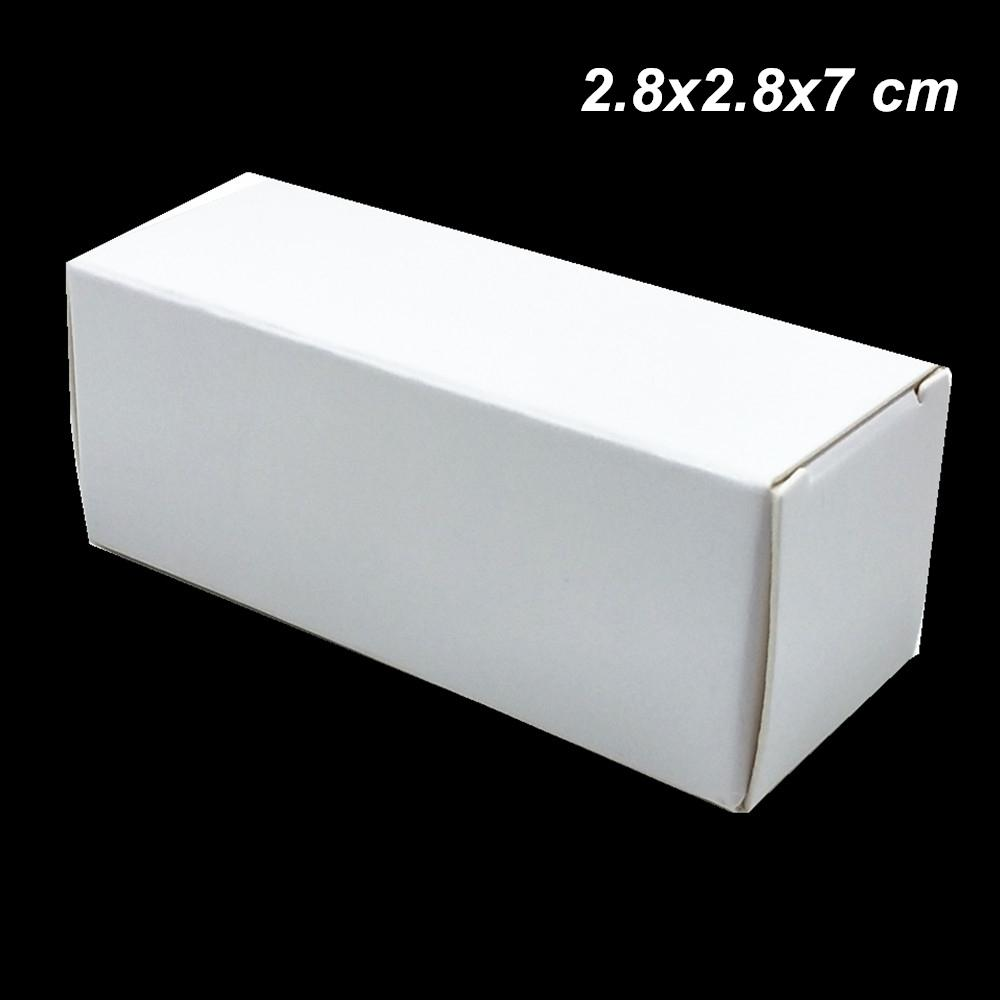 2.8x2.8x7 cm White 50pcs Lot Kraft Paper Gifts Essential Oil Bottle Storage Box Paper Board Perfume Cosmetic Nail Polish Craft Packing Boxes