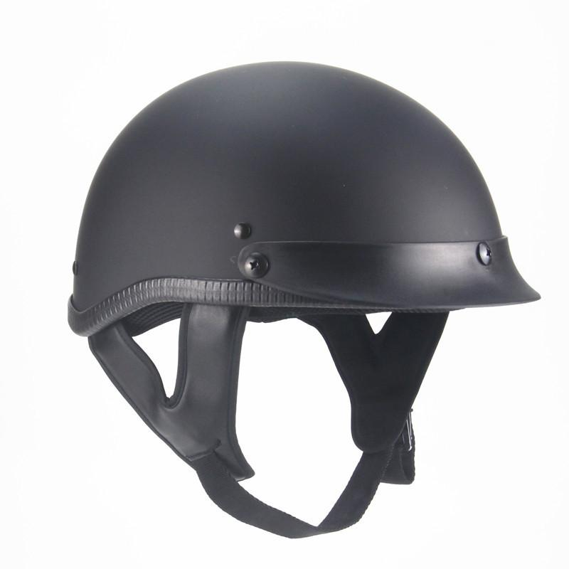 PRO-BIKER 1Piece 58-64cm ABS Plastic Motorcycle Helmets Motorcross Capacete Half Helmet For Retro Matte Bright Black