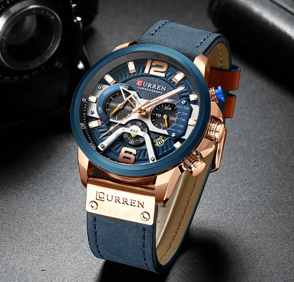 a973884f6a81e Relogio Masculino CURREN New Sport Chronograph Mens Watches Top Brand  Luxury Leather Quartz Clock Waterproof Big Dial Watch Men Watches Buy  Online Buying ...