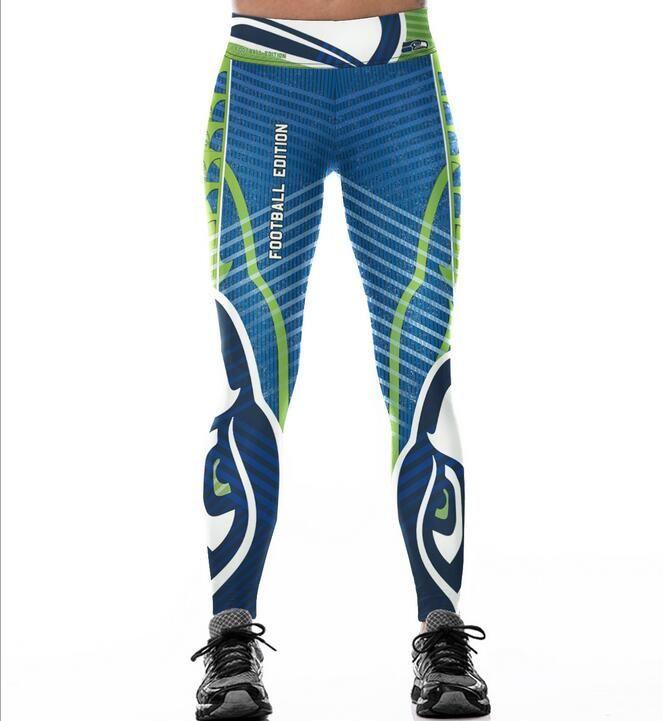 160a005dae Sports Fan Footballs Seattle Seahawks Fitness Leggings Elastic Fiber Hip  Hop Party Cheerleader Workout Pants Trousers Leggings Cheap Leggings Sports  Fan ...