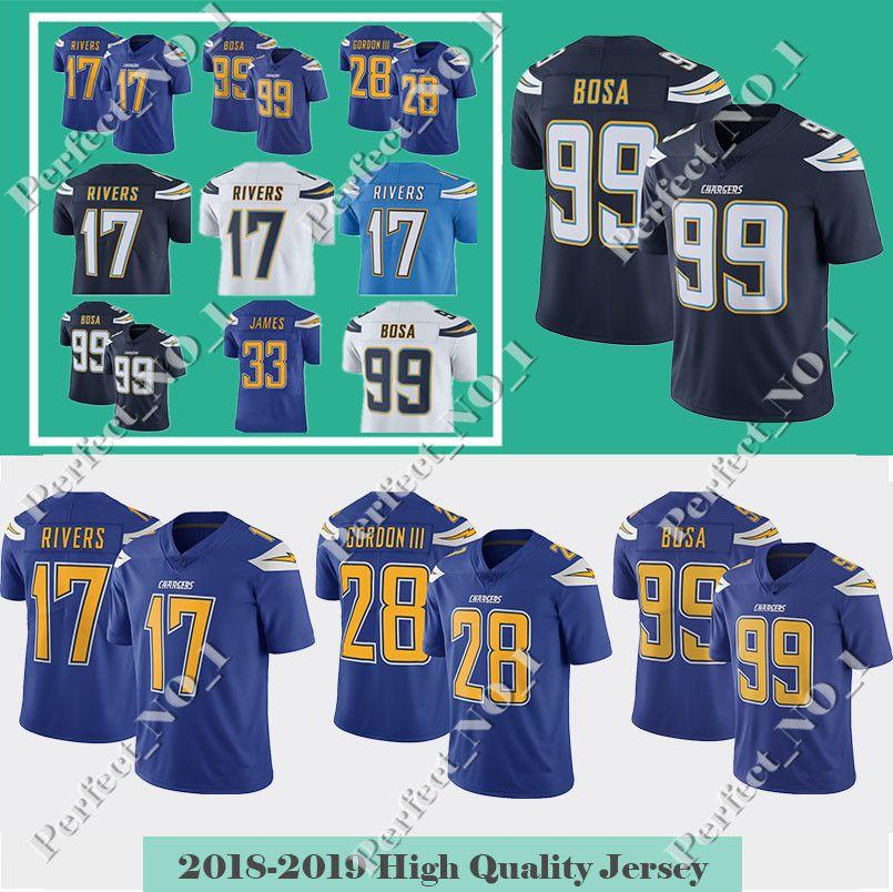 2018 Men S Los Angeles Charger 33 Derwin James 99 Joey Bosa Jersey 28  Melvin Gordon 17 Philip Rivers 13 Keenan Allen Limited Jerseys From  Perfect no 1 9b68b215b