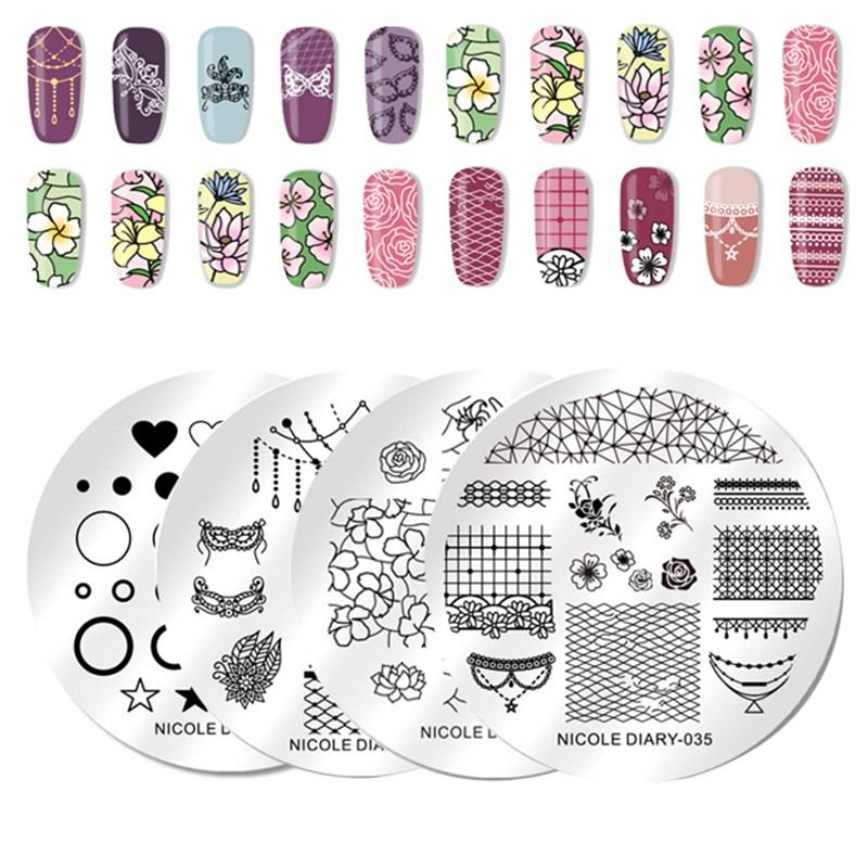 HOT Designs Flower Women Polish Stamping Plate For Nails Templates ...