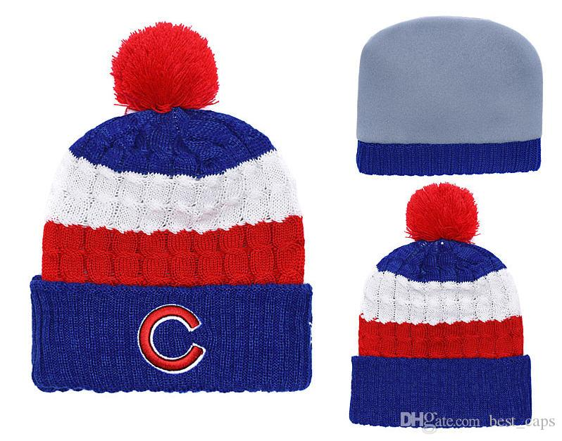 2019 Hot Sell Winter Beanie Knitted Hats CUBS Beanies Hats Basketball  Baseball Football Winter Beanies Hats 1000+ From Best caps bb058e47c43