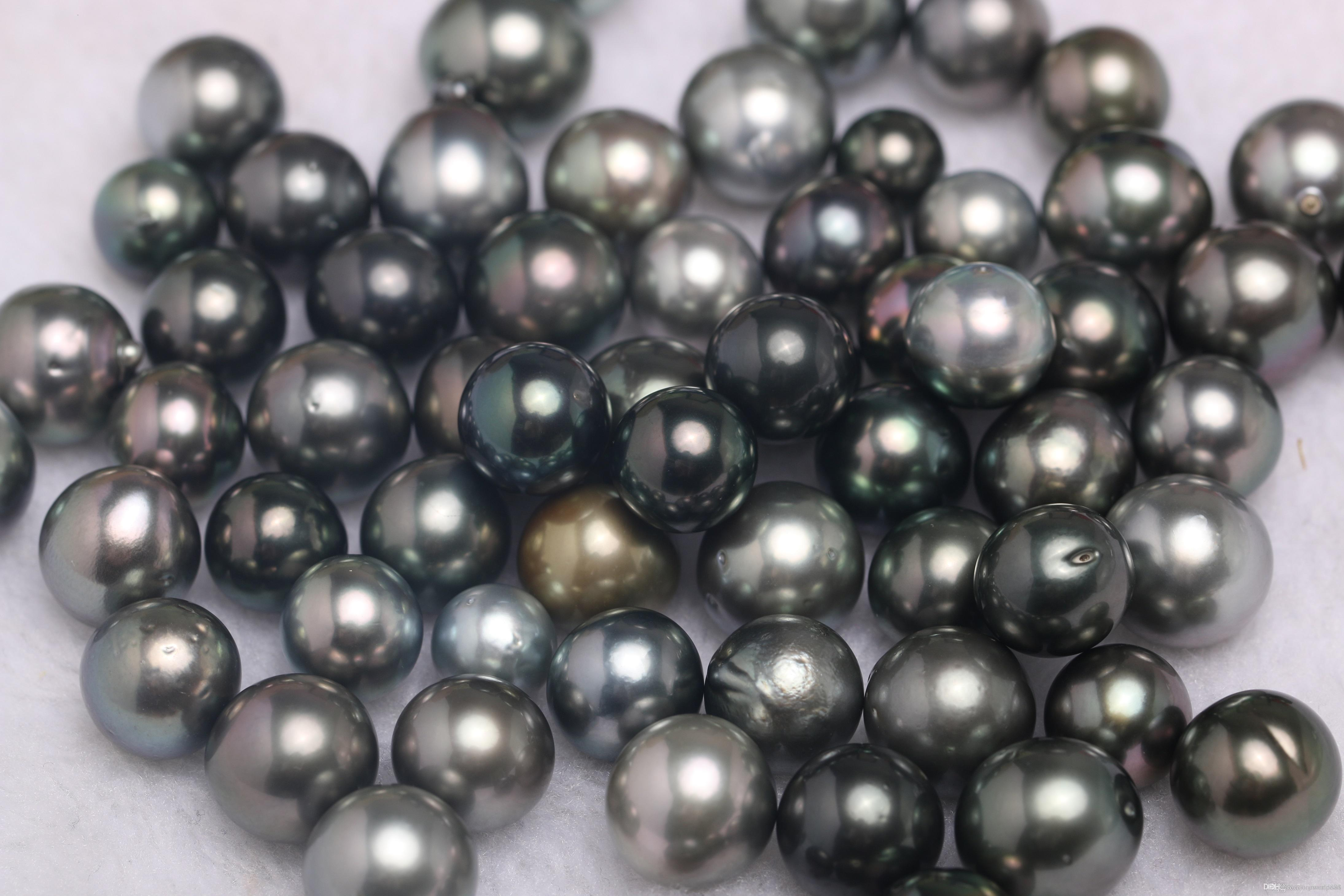 f30495e88 2019 JNMM Tahitian Pearl 10 11mm Black Grey Real Round Wholesale Natural  Seawater Pearl Hot Sale Gifts For Women From Jnmmpearl, $94.78 | DHgate.Com