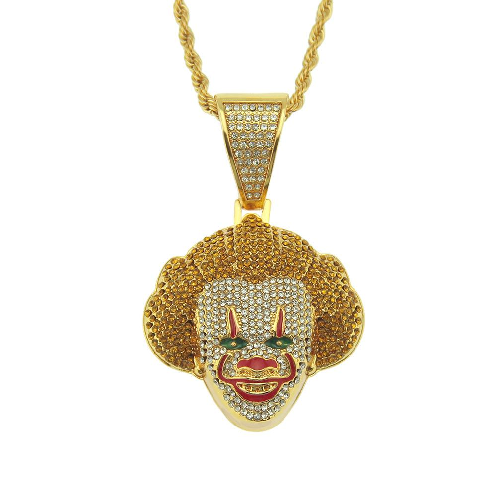 Cosplay classic clown Pendant Necklace three-dimensional diamond studded cool Necklace