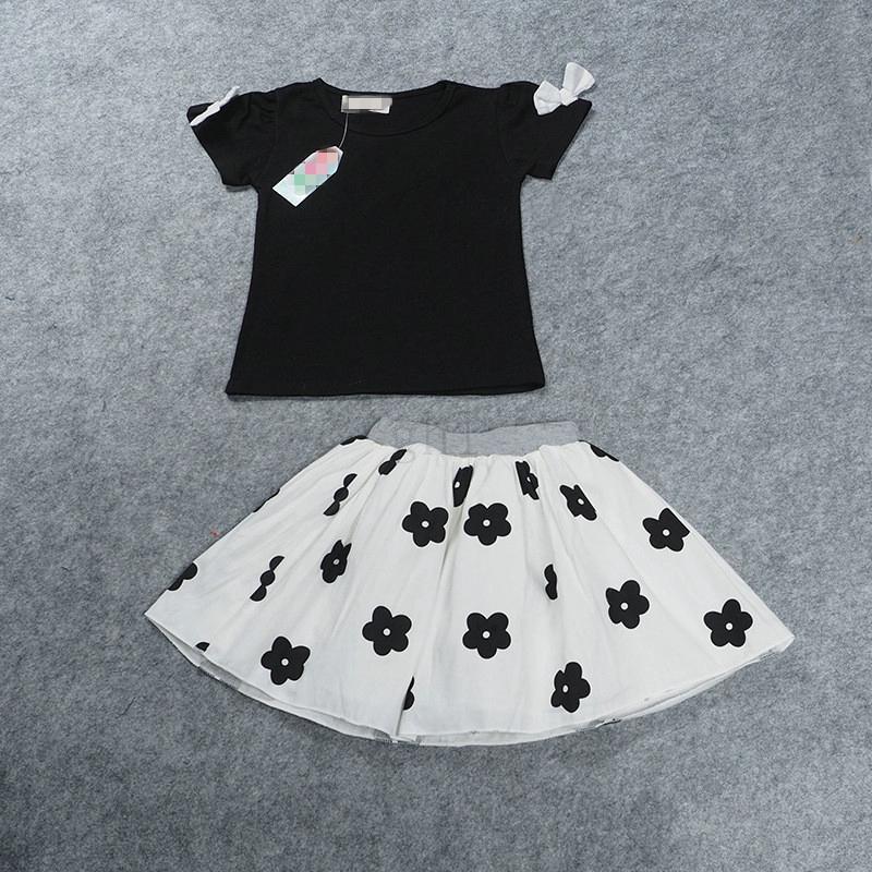 40450e5ec3d6 2019 Summer Girls Clothing Sets Fashion Short Sleeve T Shirt+ Chiffon Tutu  Floral Skirts Children Kids Girl Clothes Set From Leilar