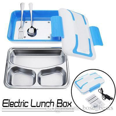 Portable PTC Electric Heating Lunch Box Container Stainless Steel Food Meal Warmer For Office Home 3 options 220/110/12V car MMA1181