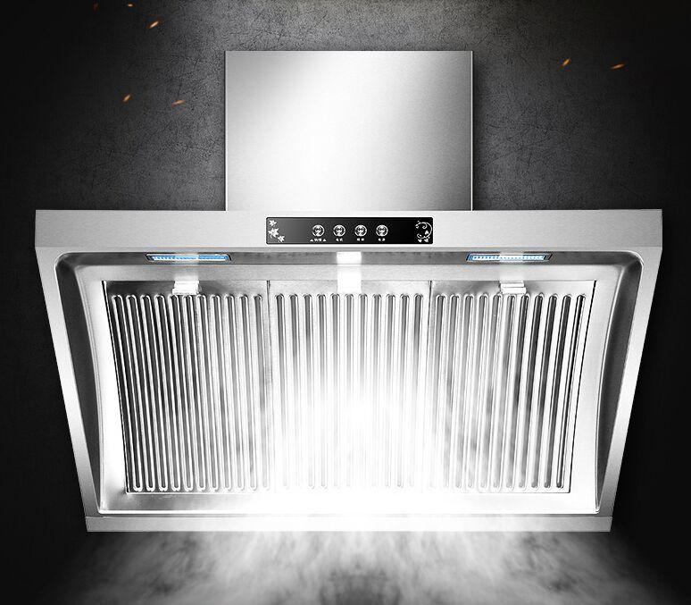 Cappa a parete per cucina Ventosa a parete per cucina Ventilatore a parete  in acciaio inox Ventola di scarico per cucina a LED