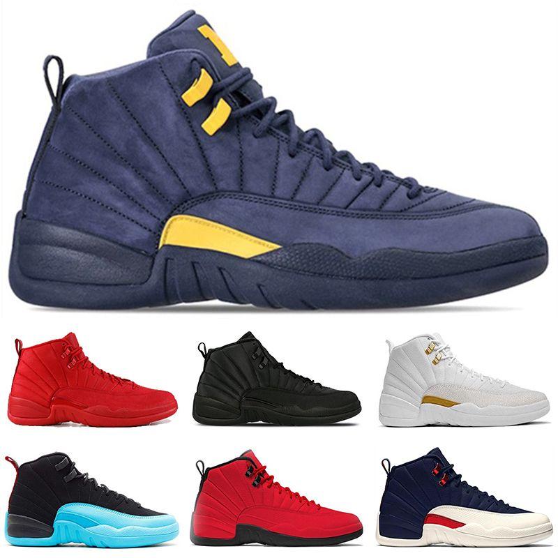 0e58c697700644 Cheap Mens Winterized 12 12s Basketball Shoes Men Gym Red Bulls ...