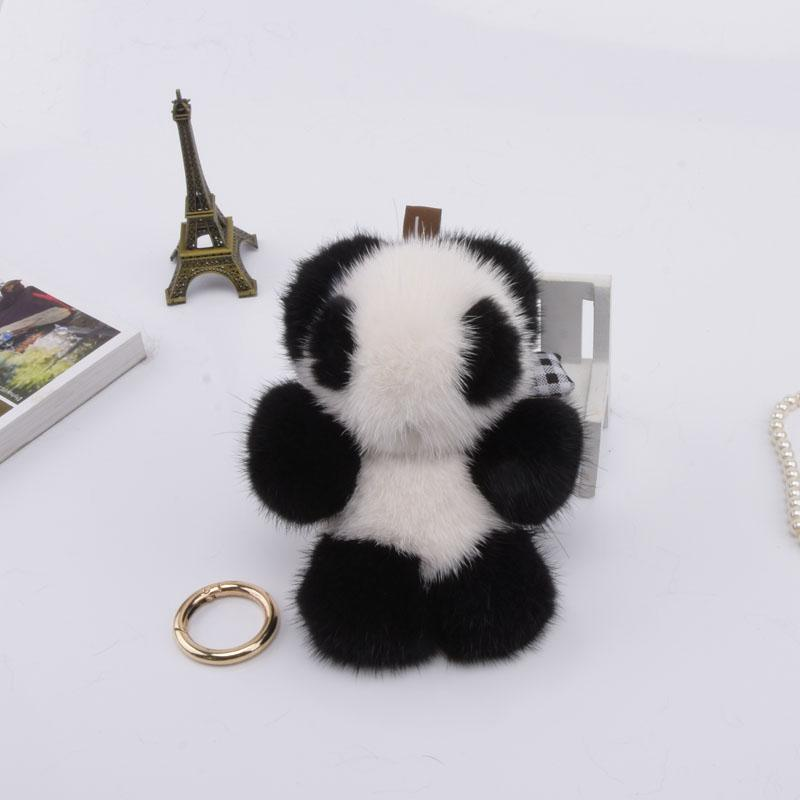 Genuine 12cm Mink Fur Keychain Fashion Soft Fur Panda Key Ring Bag Pendant  Gift Pendant Car Accessories Key Rings Toy Online with  47.21 Piece on  Jerry163 s ... 488514868040