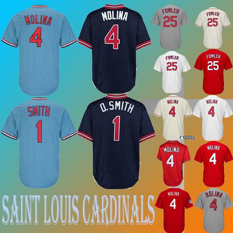 new product c997f 8e8dc Baseball Jerseys St. Louis Cardinals jerseys 4 Yadier Molina jersey 25  Dexter Fowler cheap High quality selling embroidery