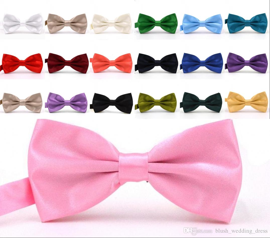 2019 Solid Colors Bow Ties For Weddings Fashion Man And Women Neckties Mens Bow Ties Leisure Neckwear Bowties Adult Wedding Bow Tie