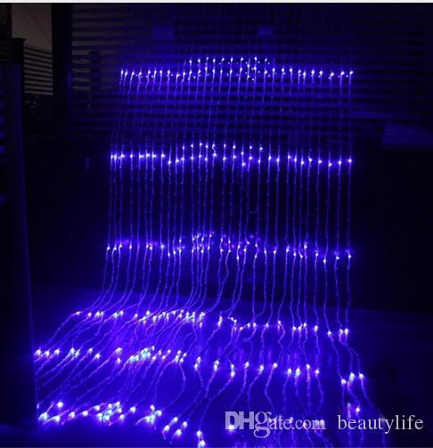 3x3M 320 LED Waterfall Icicle Curtain LED String Fairy