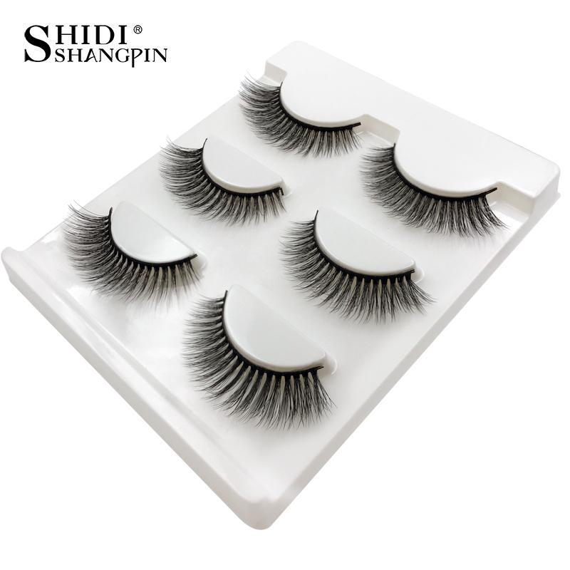 d16605ac4c0 SHIDISHANGPIN Mink Eyelashes Natural Long 3d Mink Lashes Hand Made False  Eyelashes 1 Box Makeup Eyelash Extension Eyelash Extensions Cost Eyelashes  ...