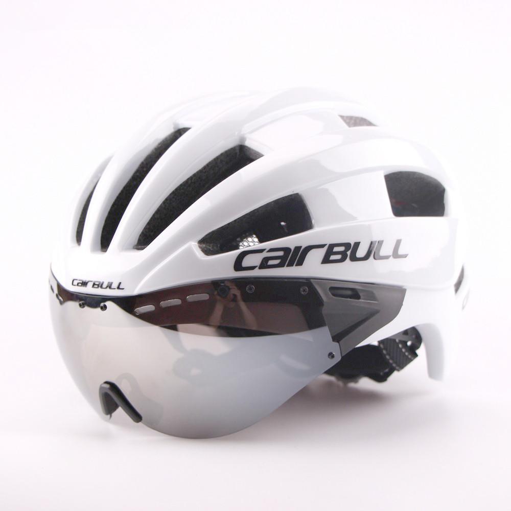 Ultra-light 235g Goggles Cycling Helmet Road Mountain MTB Bicycle Helmet In-mold Bike Helmet With Sun Visor Helmet M54-58cm (8)_