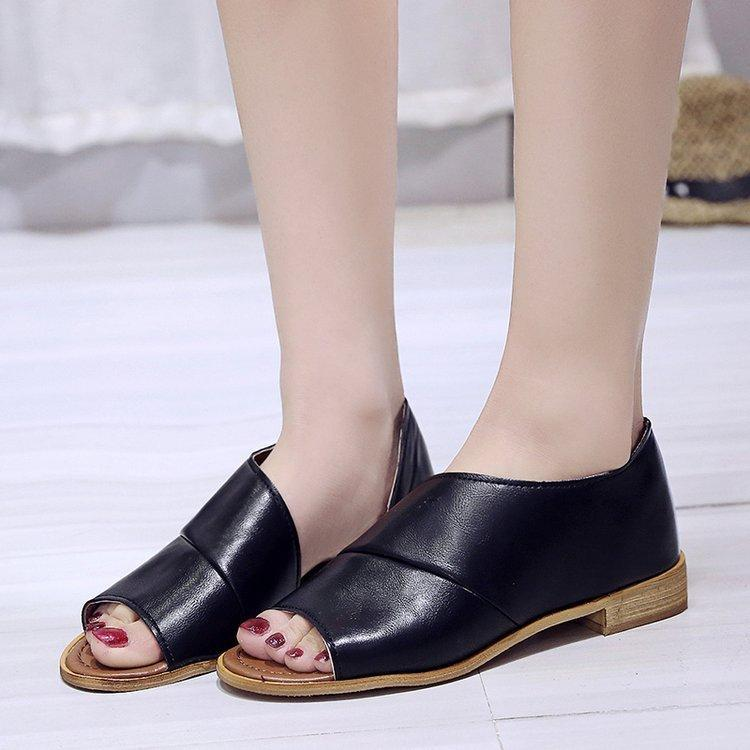 5dd3070d Compre Fairy2019 Danpingdi Burst Fish Mouth Side Air Sandalias De Mujer  Zapatos De Mujer A $60.61 Del Skybelle | DHgate.Com