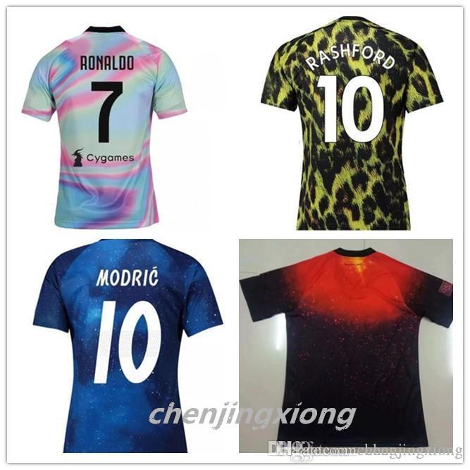 Edición Limitada Real Madrid Juventus Bayern Munich Soccer Jersey RONALDO  POGBA 2019 2020 United Ropa De Entrenamiento Camiseta De Edición Especial S  XXL ... fc7de13275229