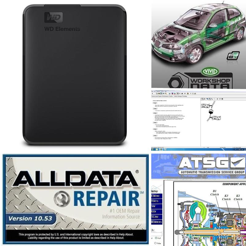 2019 Alldata Repair Soft-ware all data v10 53 atsg Vivid workshop support  for cars and trucks with 750gb HDD alldata soft-ware