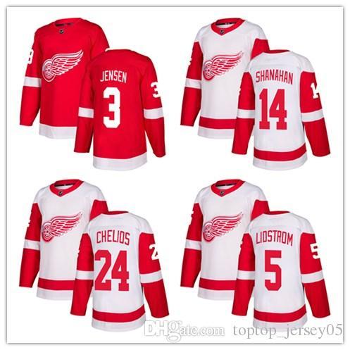 2019 2018 Detroit Red Wings Jerseys  14 Brendan Shanahan 24 Bob Probert 5  Nicklas Lidstrom Jersey Men WOMEN YOUTH Men S Baseball Jersey From  Toptop jersey05 ... 71f0729a4