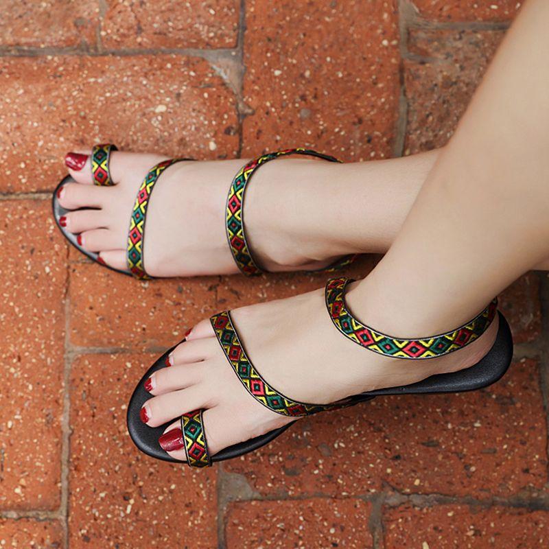 Women Flat Sandals Gladiator 2018 Summer Shoes Female Plus Size 35 42 Flip  Flops Sandals Ladies Beach Sandals Flat Handmade Sandal Ladies Shoes From  ...