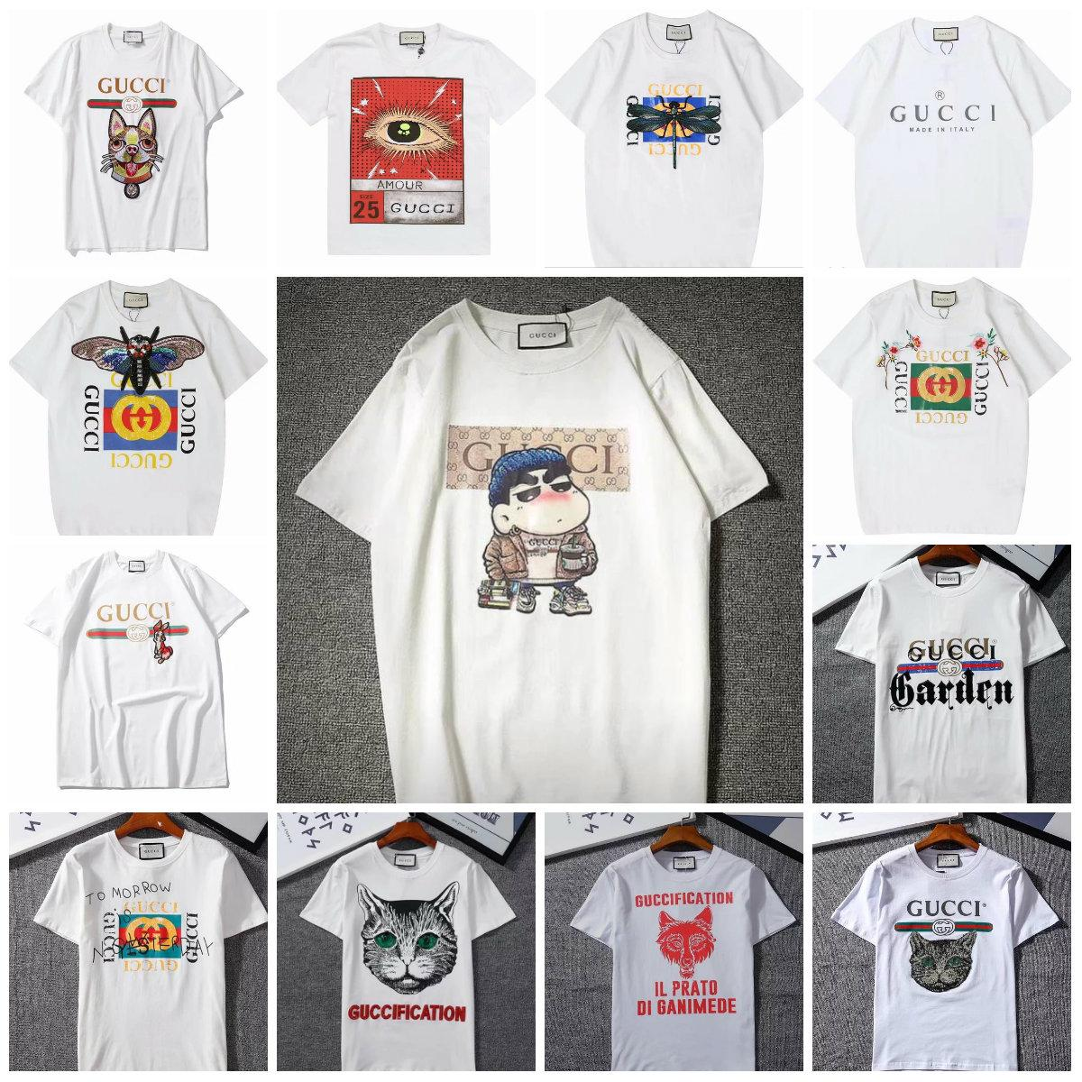 2018 Fashion Designer Luxury Europe Italie T-Shirt Hommes Kanye West T-Shirt Casual Coton Tee Top Shirts