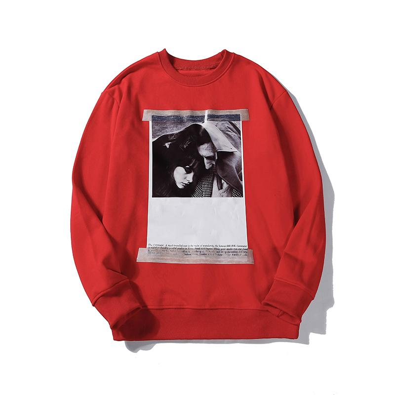Hip Hop Mens Womens Designer Marca Red Sweatershirts Portraiture poster da Casual Luxury pulôver Sweatershirt Top Quality B101736V