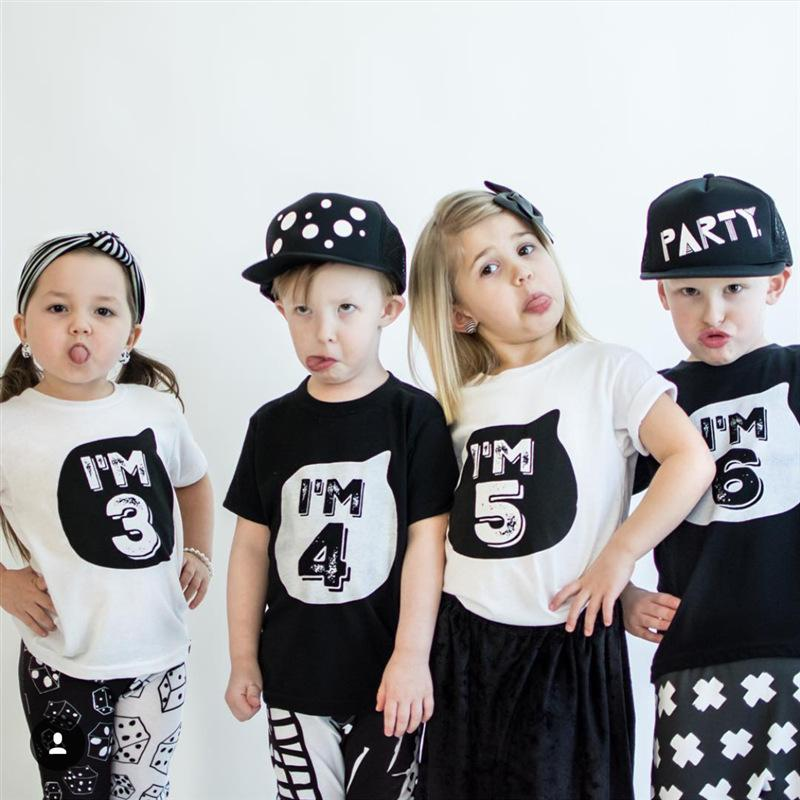 f35b51c8b7542 Boys Girls T shirts for Children Clothing Summer Brand Clothes Little Baby  1-6Years Birthday Outfits Kids Toddler Tee Shirt Tops