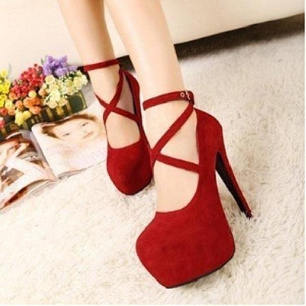 ba03519f6a Designer Dress Shoes Bigsweety Fashion Super High Thin Heels Spring Autumn  Pumps T-strap Buckle Strap Retro Round Toe Pumps Wedding Women