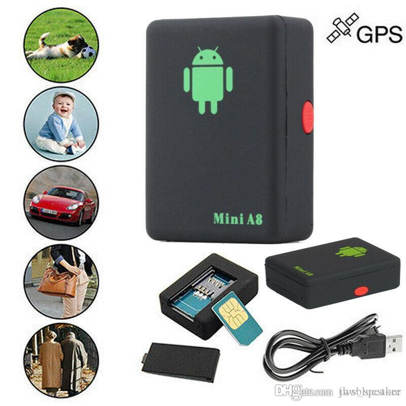 A8 Mini GSM/GPRS Tracker Global Real Time GSM GPRS Tracking Device With SOS Button for Cars Kids Elder Pets SOS Tracking Device