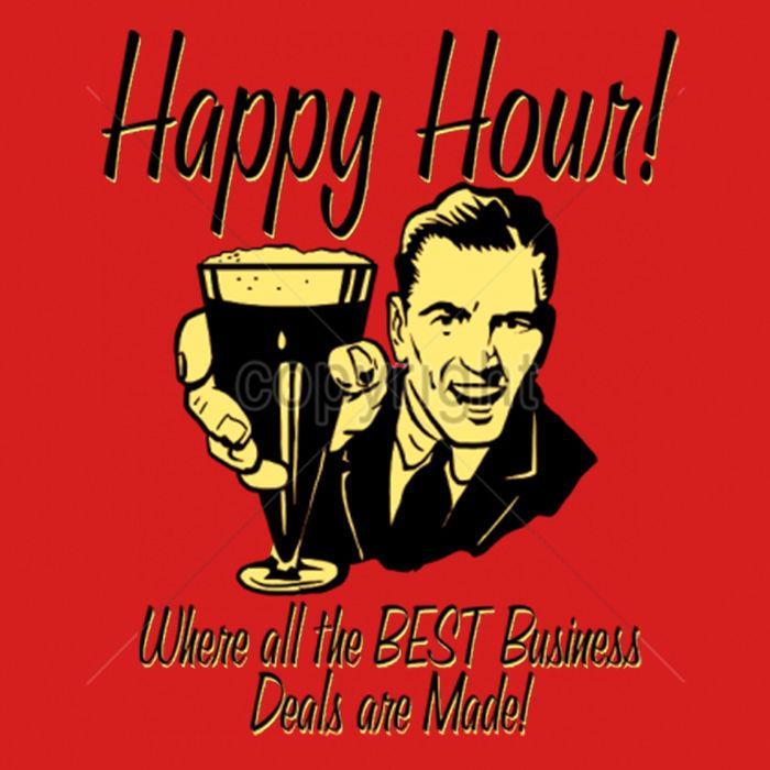 Happy Hour Where All The Best Business Deals Are Made